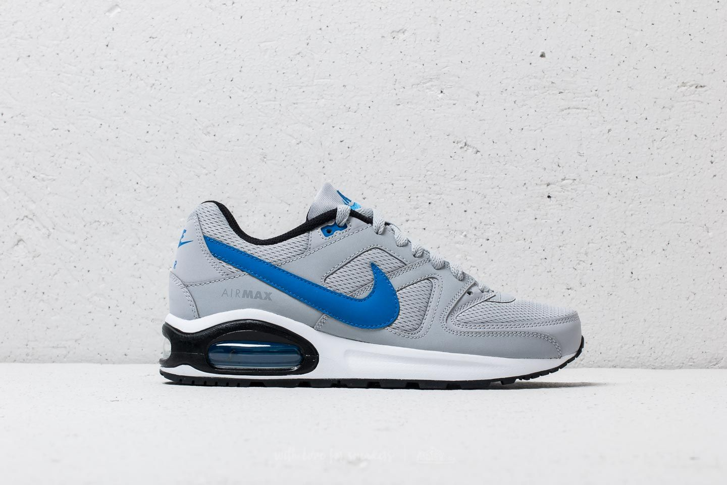 online store 7c781 a6710 Nike Air Max Command Flex (GS) Wolf Grey  Signal Blue-Black at