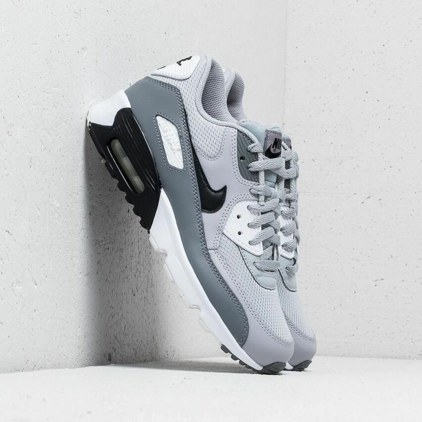 Nike Air Max 90 Mesh (GS) Wolf Grey/ Black-Cool Grey EUR 40