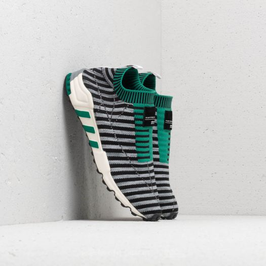 adidas EQT Support SK Primeknit Core Black Grey One Sub Green | Footshop