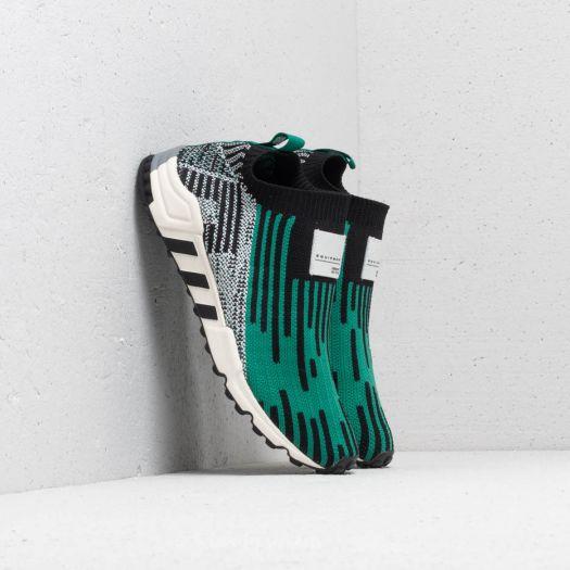 adidas EQT Support SK Primeknit Core Black Sub Green Ftw White | Footshop