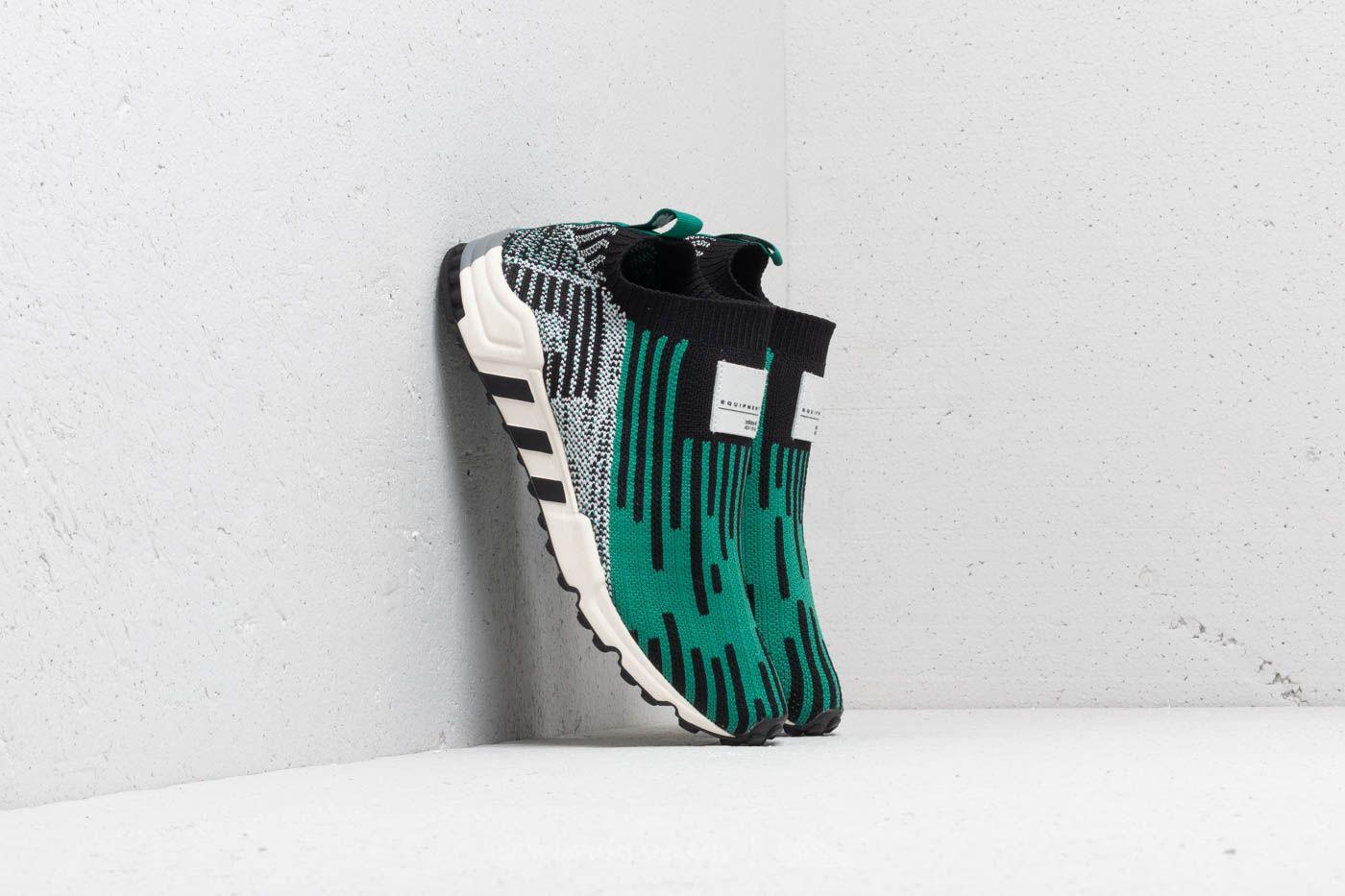 adidas EQT Support SK Primeknit Core Black/ Sub Green/ Ftw White