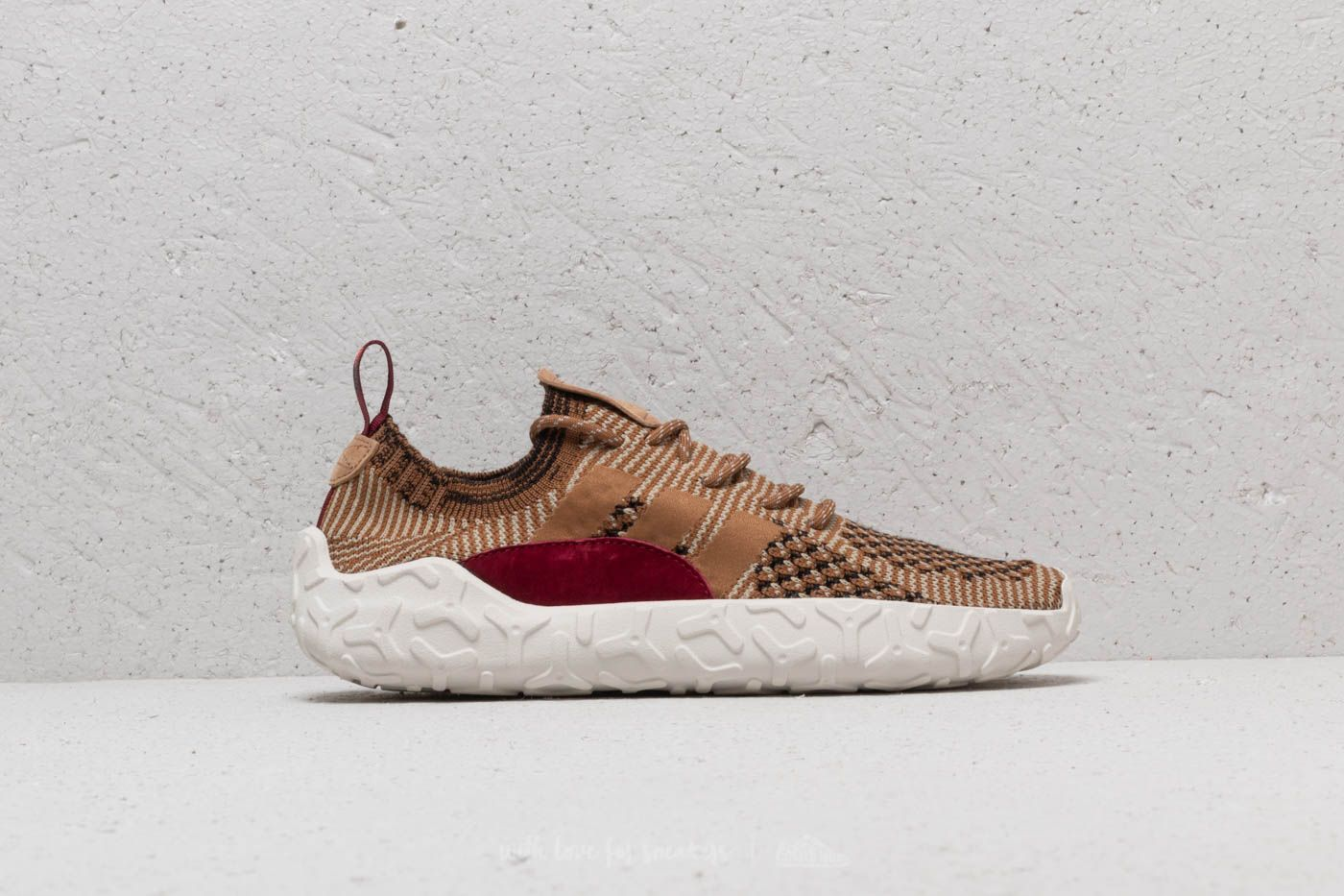 sports shoes 2ee02 b631a adidas F22 Primeknit Raw Gold Raw Desert Collegiate Burgundy at a great