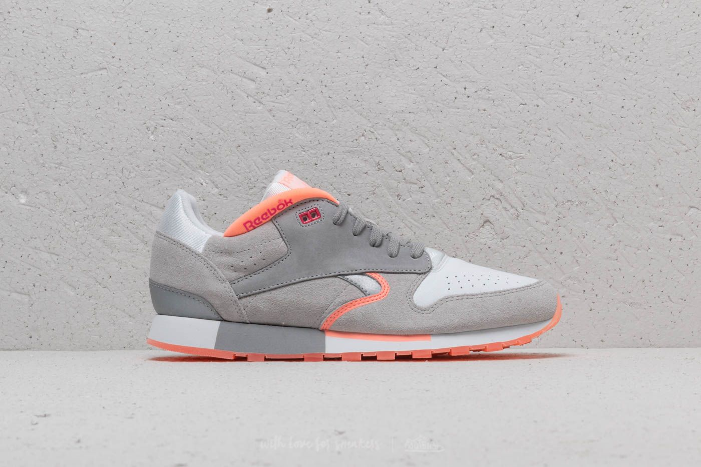 Reebok Classic Leather Urge White  S Grey  D Pink  Pink at a great 36c6030cb