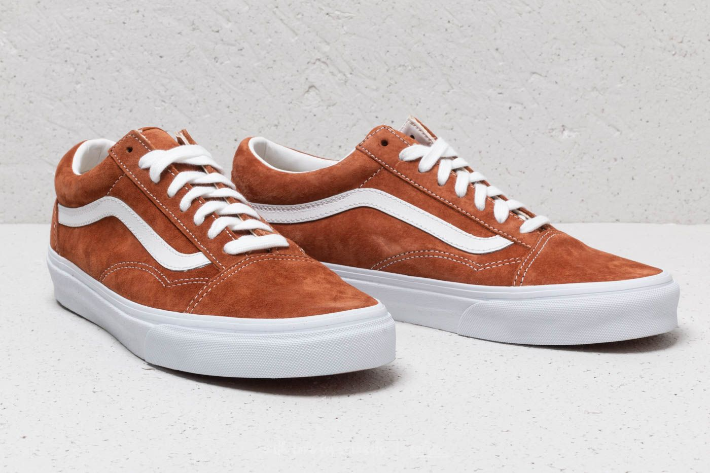 Vans Old Skool (Pig Suede) Leather Brown | Footshop