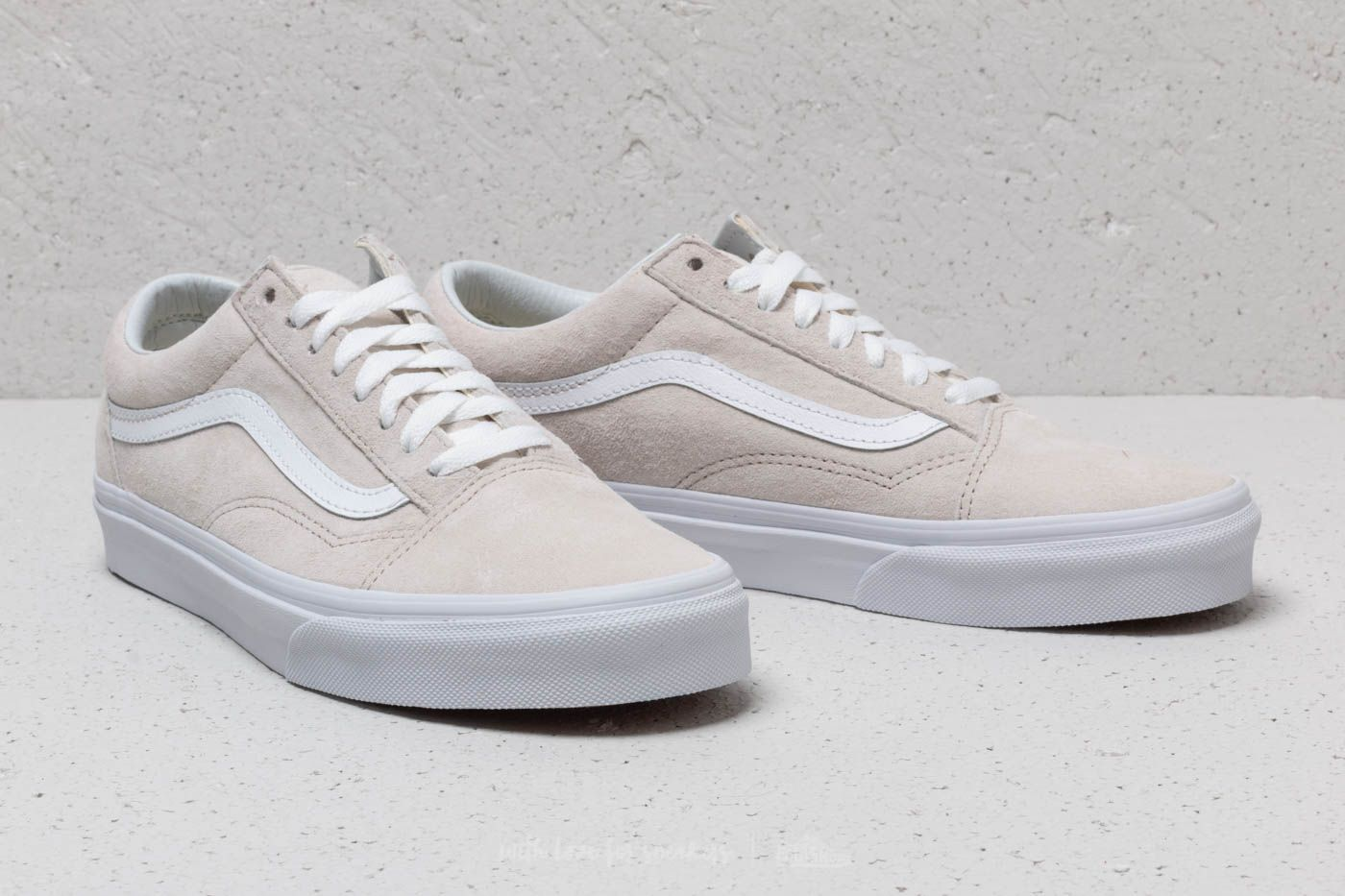 Vans Old Skool (Pig Suede) Moonbeam True White | Footshop