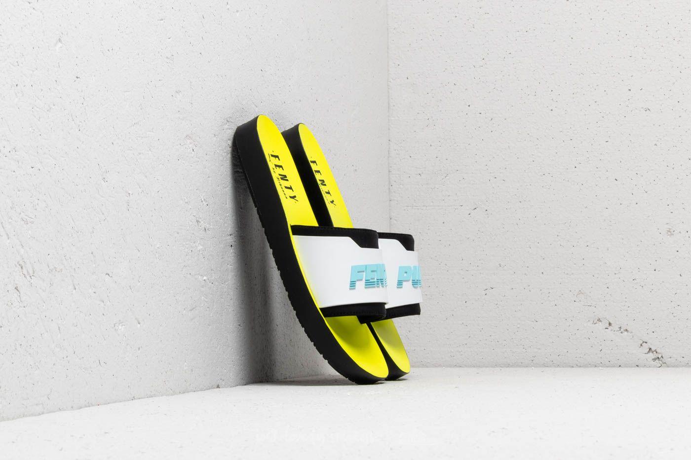 Puma Fenty Surf Slide Wns Puma Black  White  Yellow  a739e360c91b