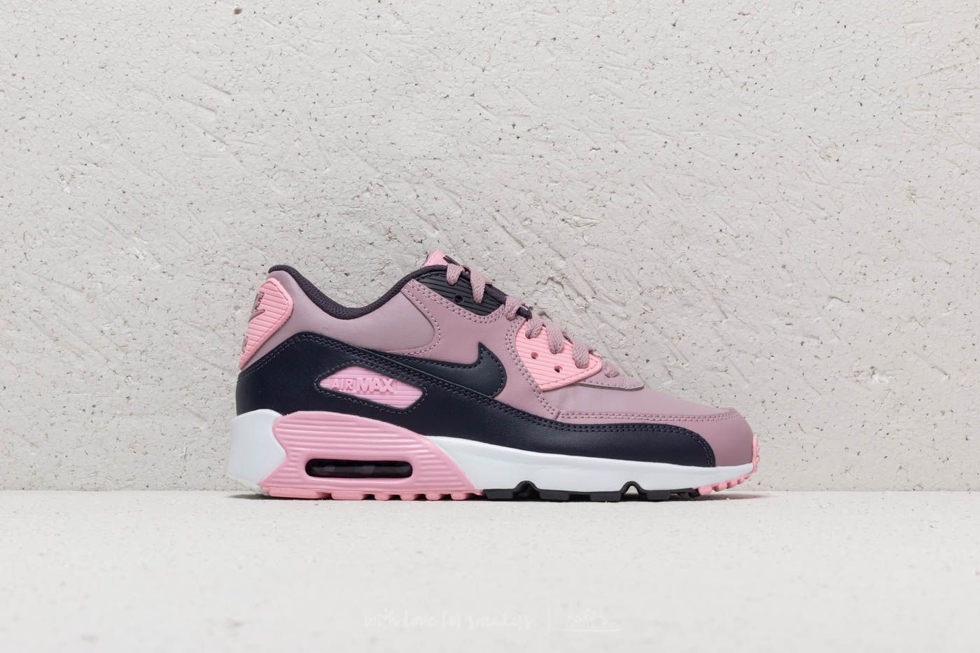 new style 70d57 615e9 Nike Air Max 90 Leather (GS) Elemental Rose/ Gridiron-Pink ...