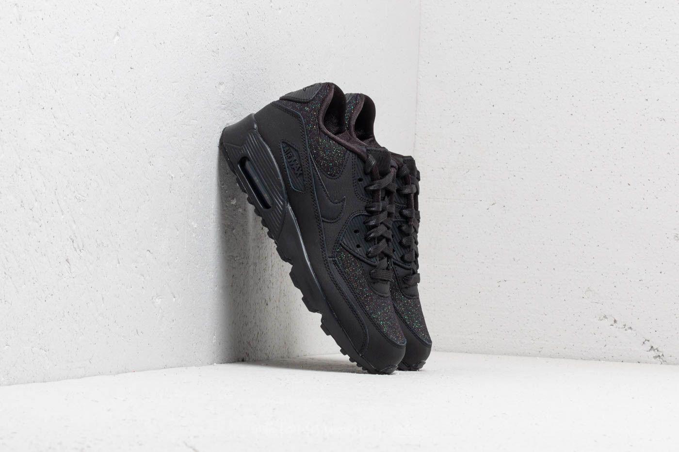 wholesale dealer dbb11 32bd2 Nike Air Max 90 SE Mesh (GS). Black  Black-Anthracite
