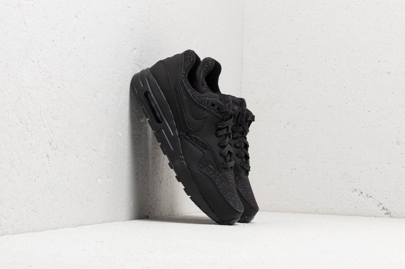 best sneakers d67fd 7ab81 Nike Air Max 1 SE (GS). Black Black-Anthracite-White