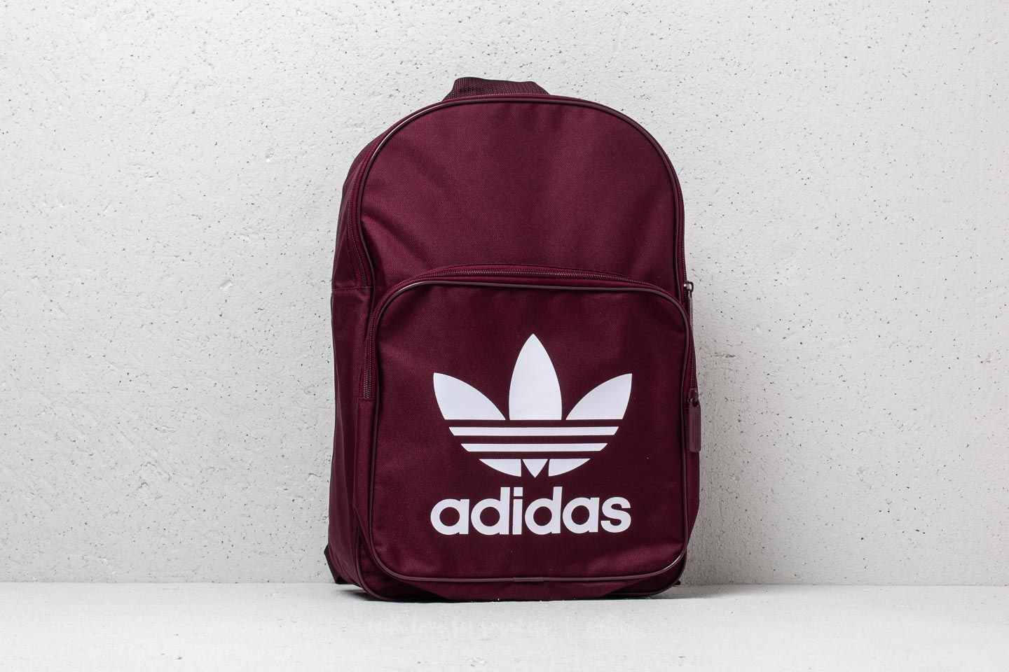 9b16a1bf2df7 adidas Classic Trefoil Backpack Maroon