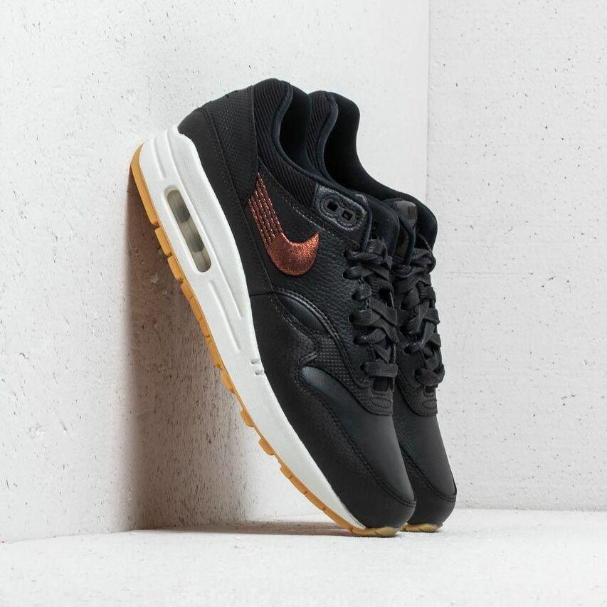 Nike Wmns Air Max 1 Premium Black/ Black-Gum Yellow EUR 38