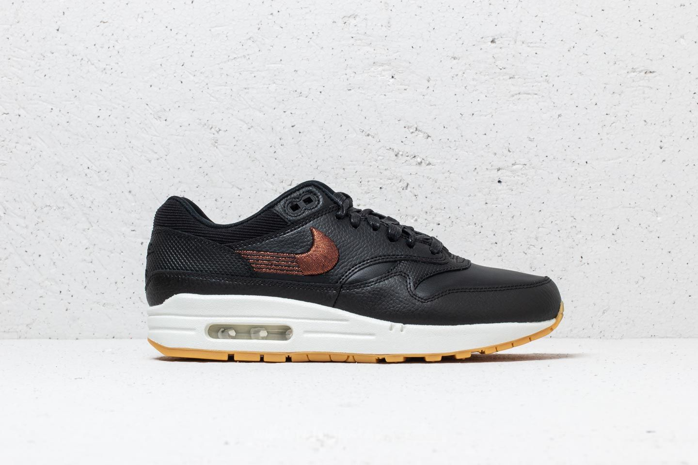 1a036bfd0f Nike Wmns Air Max 1 Premium Black/ Black-Gum Yellow at a great price