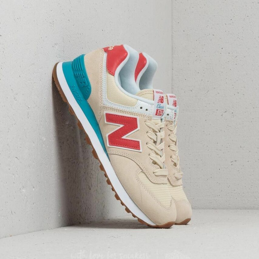 New Balance 574 Beige/ Blue/ Red EUR 37