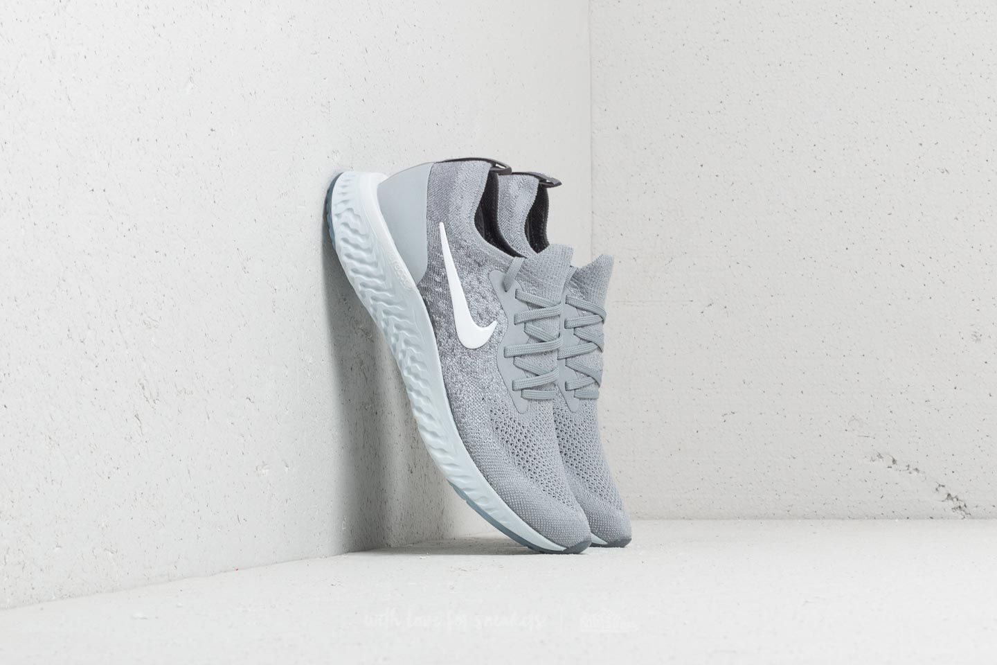 Nike Epic React Flyknit (GS) Wolf Grey/ White-Cool Grey at a great price 128 € buy at Footshop