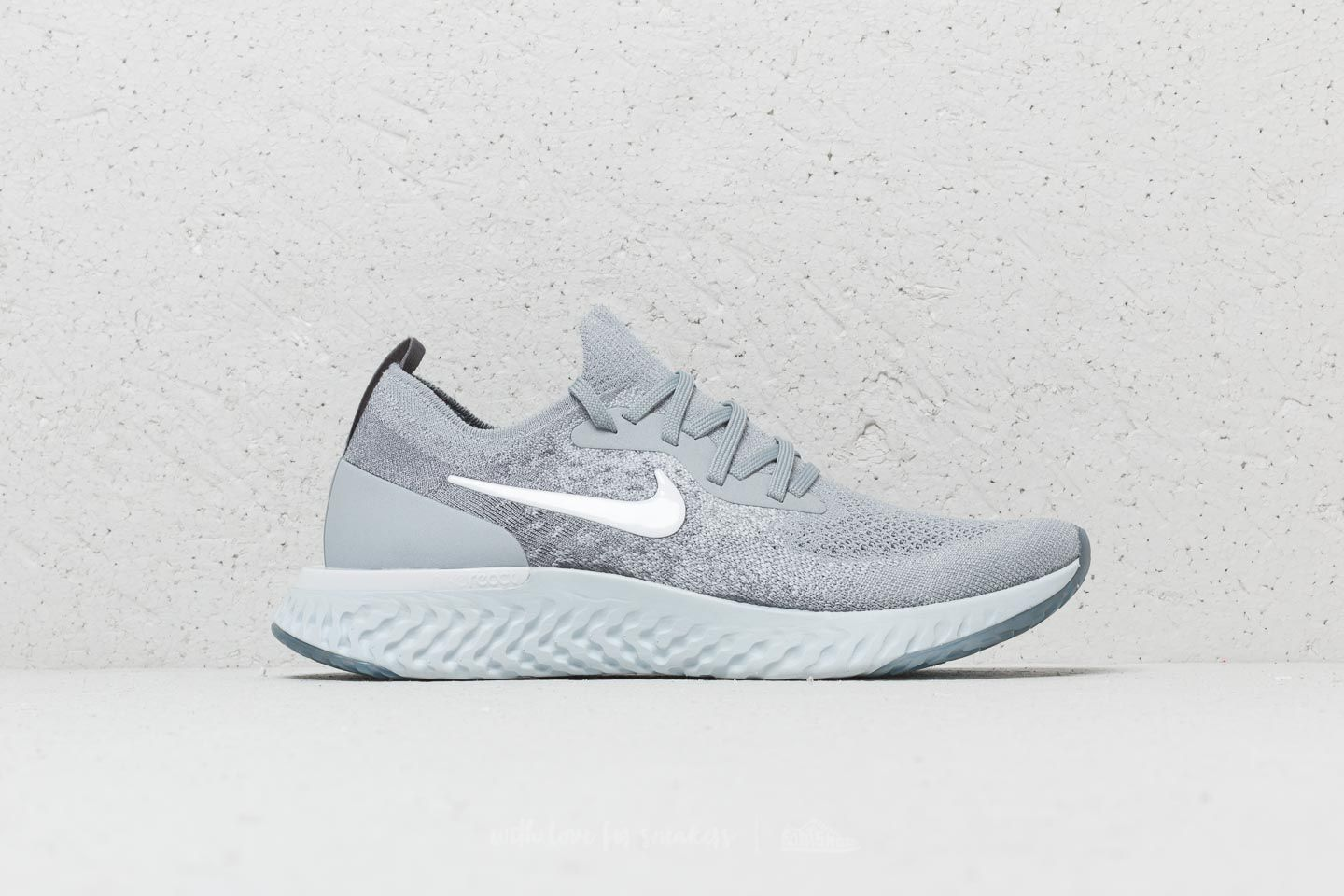 7d5524342d376 Nike Epic React Flyknit (GS) Wolf Grey  White-Cool Grey at a