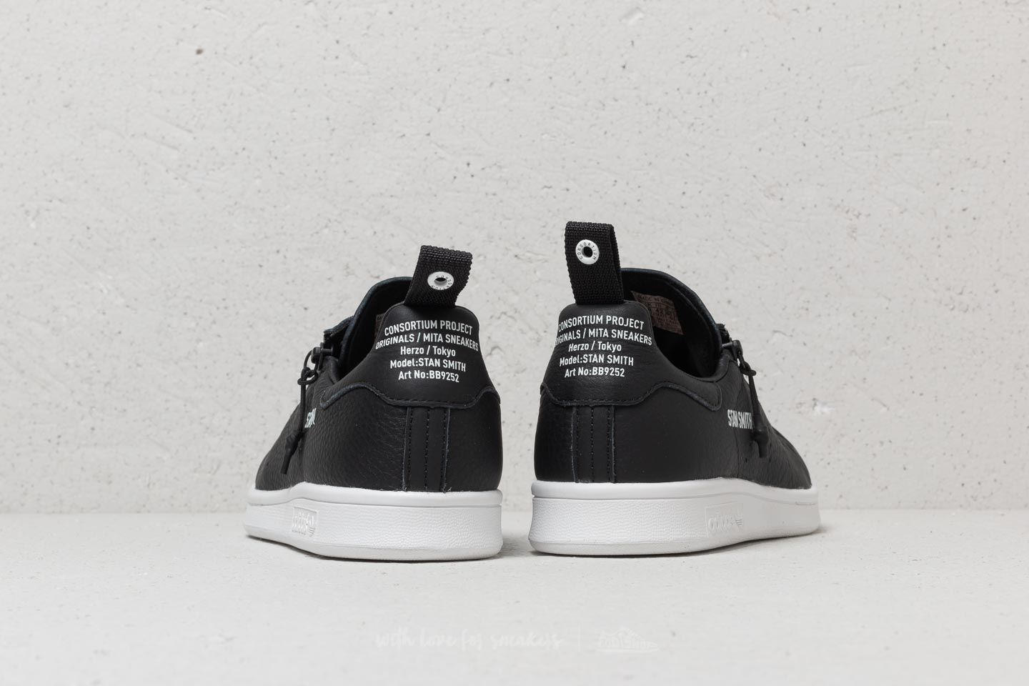 premium selection b94b9 5d669 adidas Consortium X Mita Stan Smith Black/ Black/ White ...