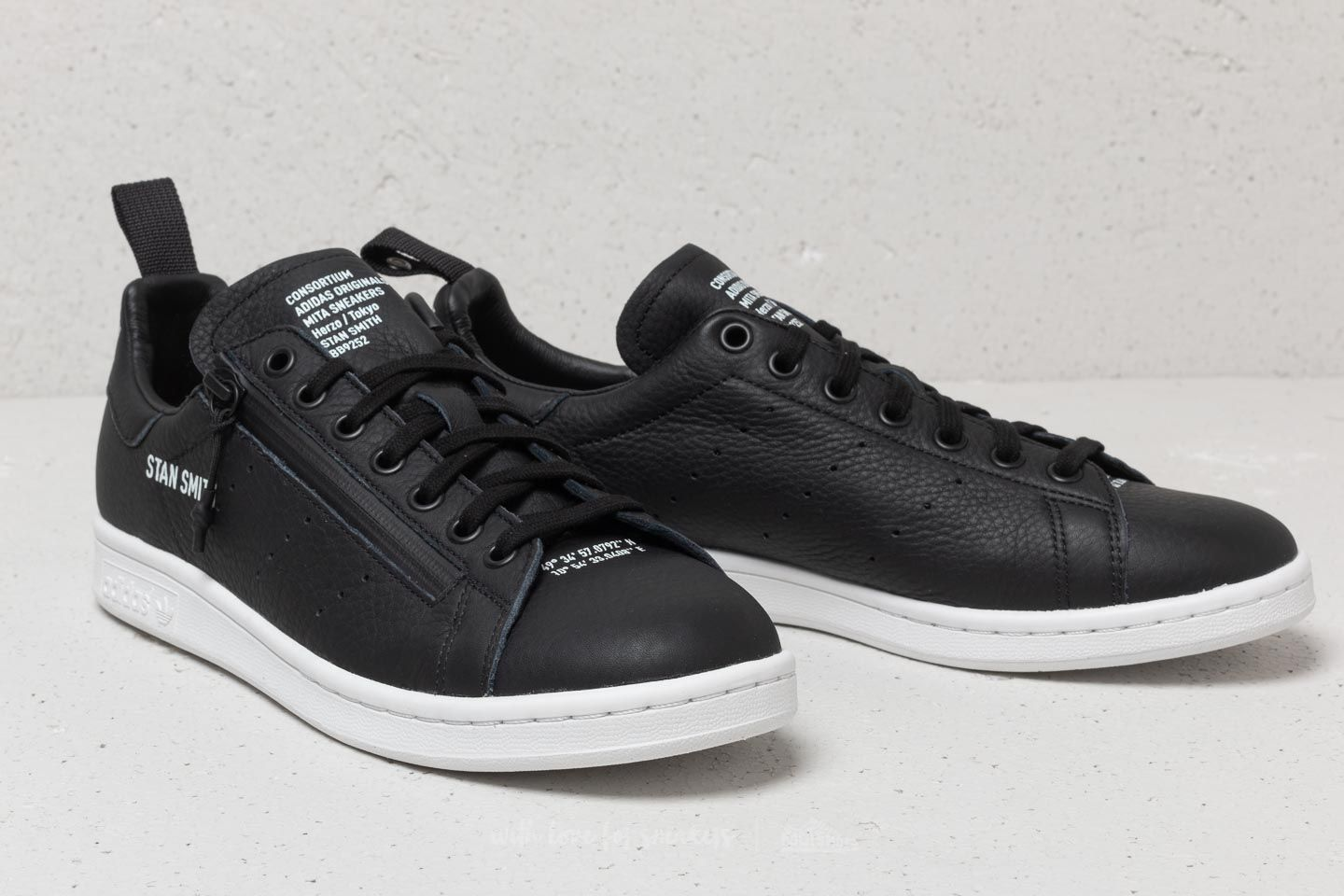 premium selection e9331 62601 adidas Consortium X Mita Stan Smith Black/ Black/ White ...