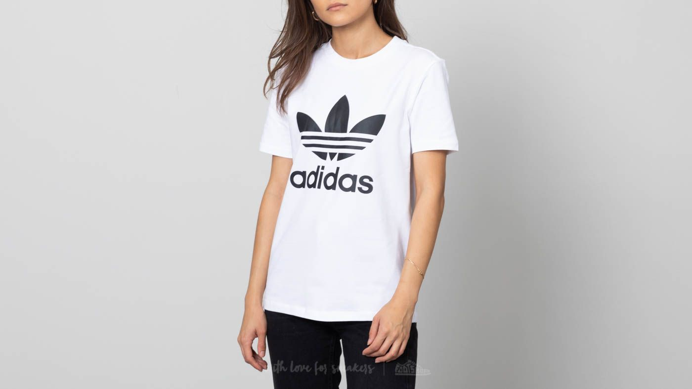 d92ff910acd adidas Trefoil Tee White/ Black | Footshop