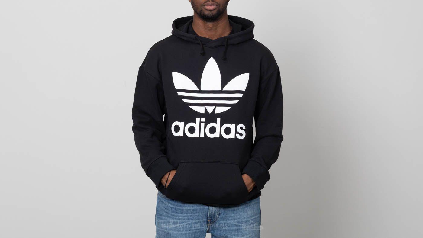 adidas Trefoil Oversized Hoodie Black za skvělou cenu 1 700 Kč koupíte na Footshop.cz