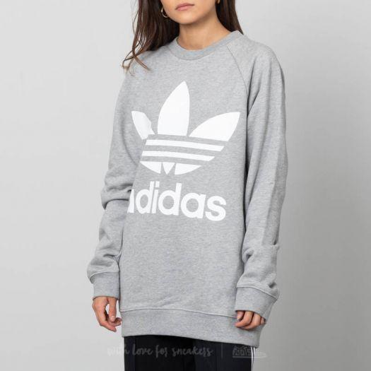 adidas Oversized Sweatshirt Medium Grey Heather | Footshop