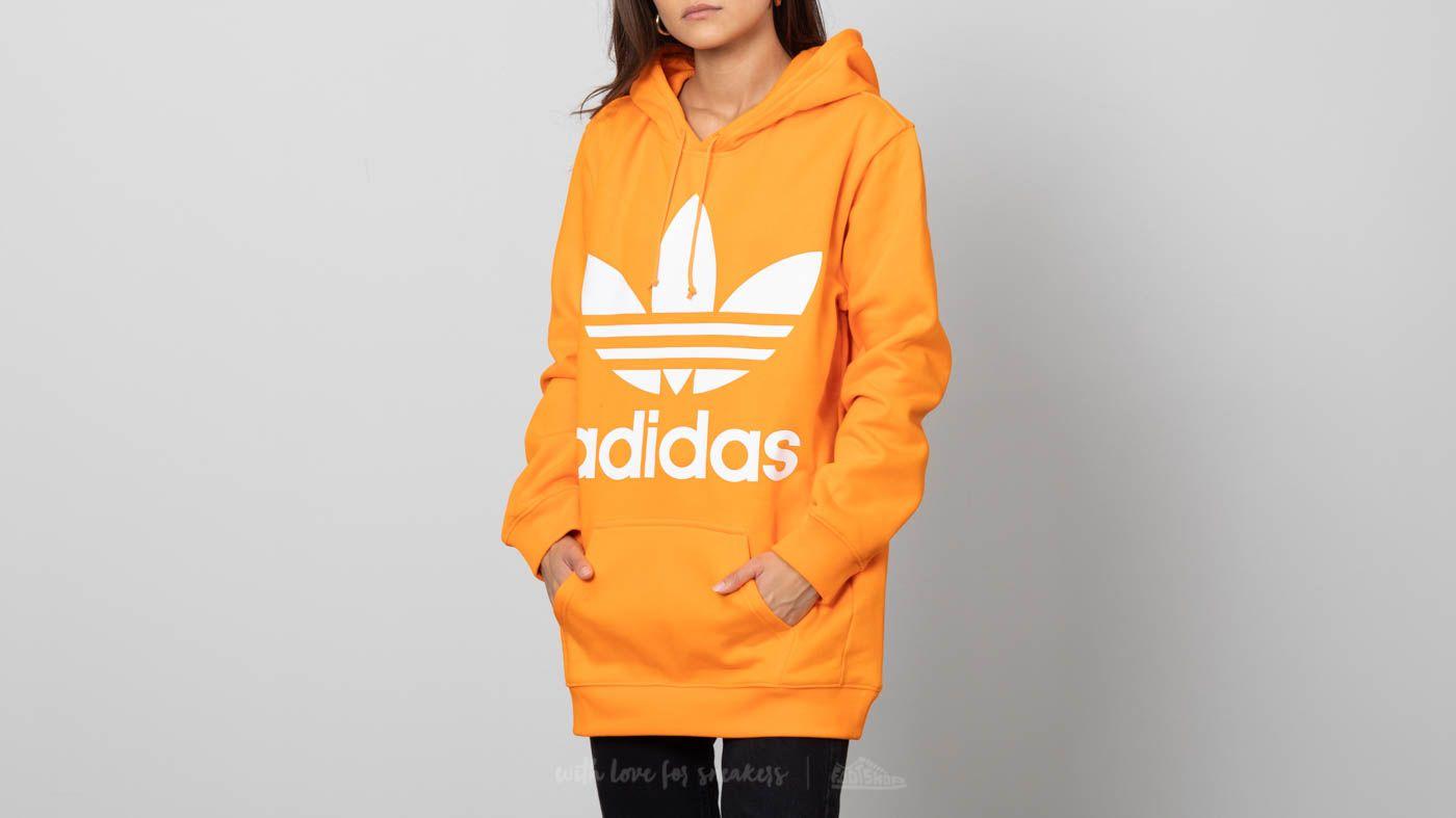 5c3b117aef7c adidas Boyfriend Trefoil Hoodie Bahia Orange