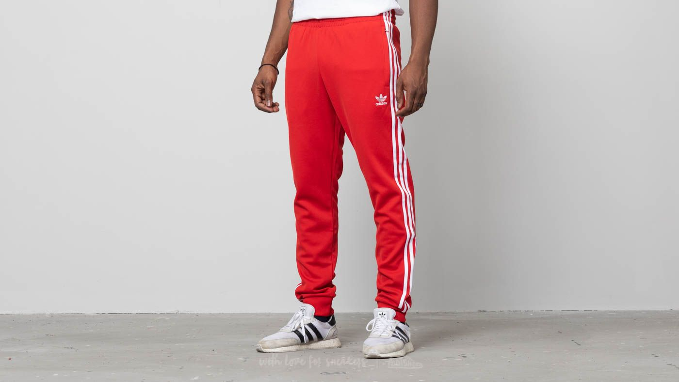 adidas Superstar Trackpants Collegiate Red  f7227c195fe8