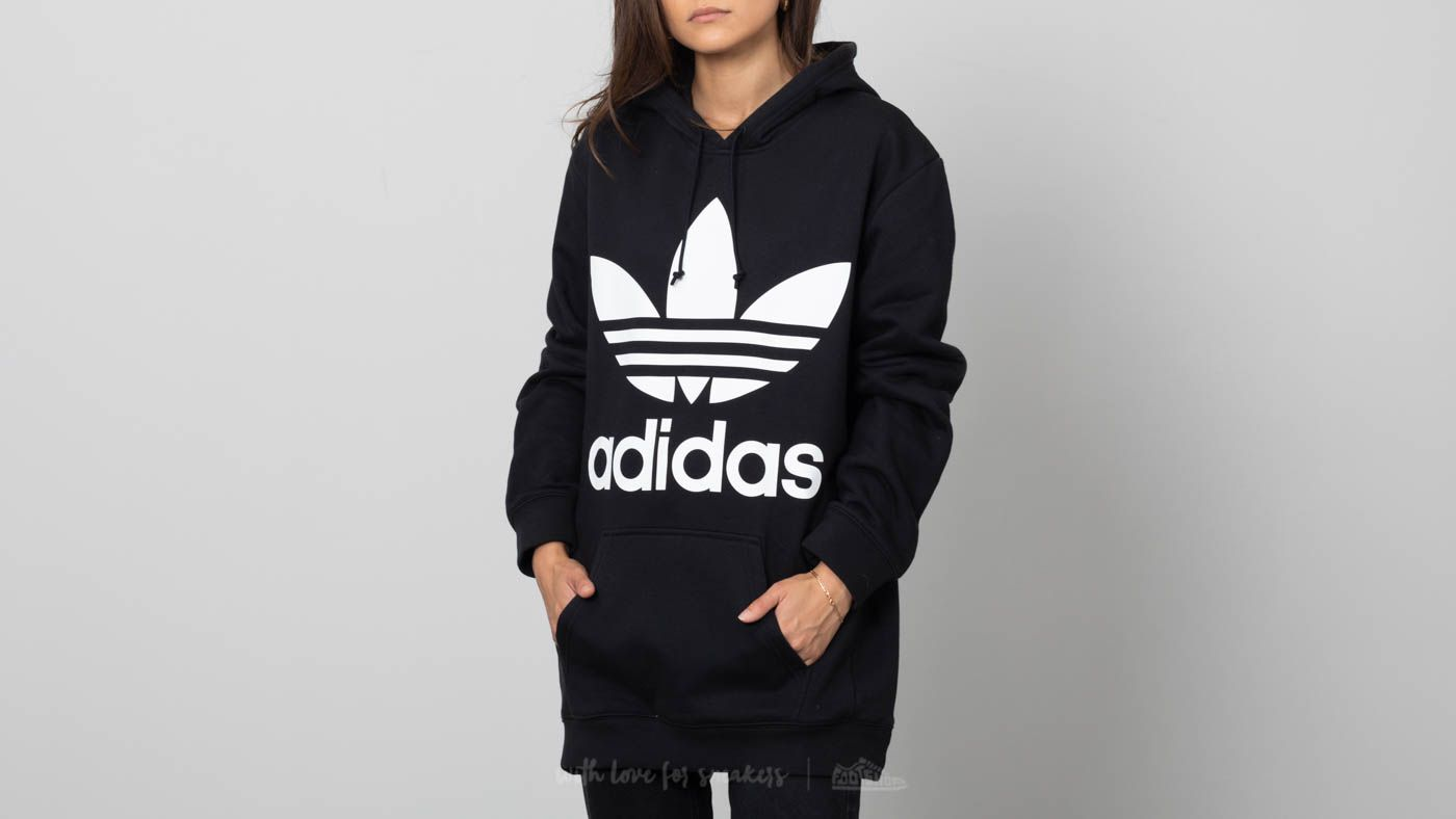 e043e091 adidas Boyfriend Trefoil Hoodie Black | Footshop