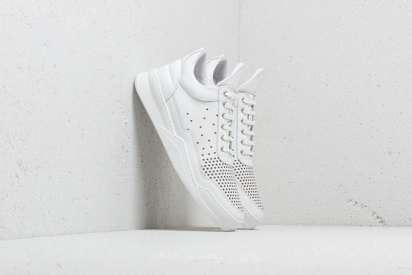 Filling Pieces Low Top Ghost Gradient Perforated White