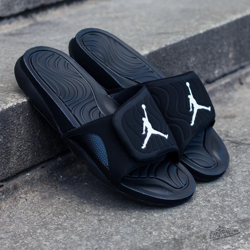 dbab4267a9725b Jordan Hydro 4 Black White-Black