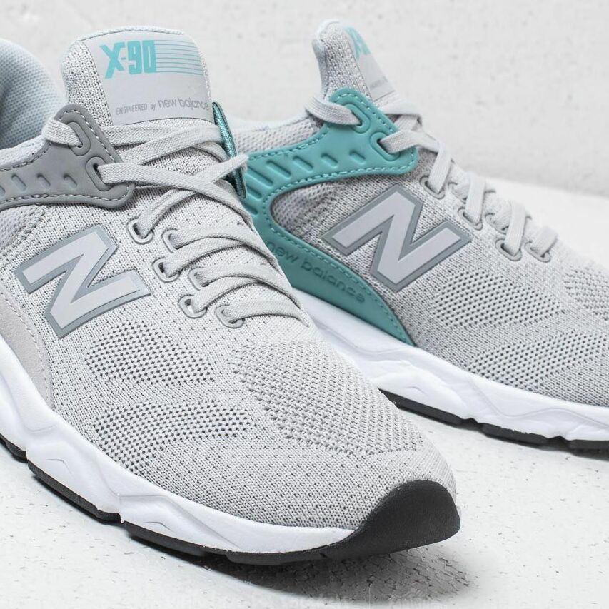 New Balance X-90 Grey/ White, Gray