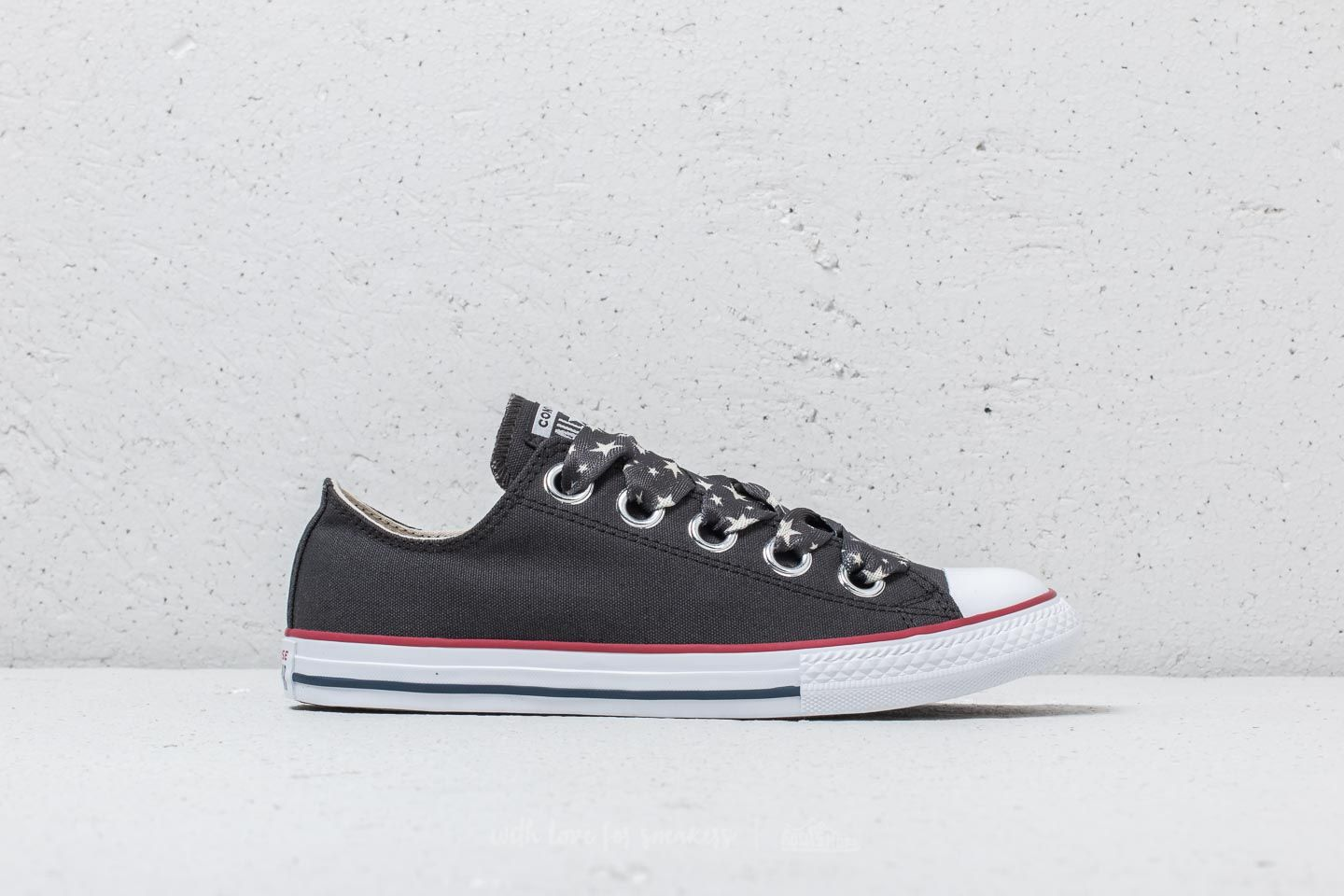 Converse Chuck Taylor All Star Big Eyelet Ox Almost Black  Driftwood  White  at a 836ace990