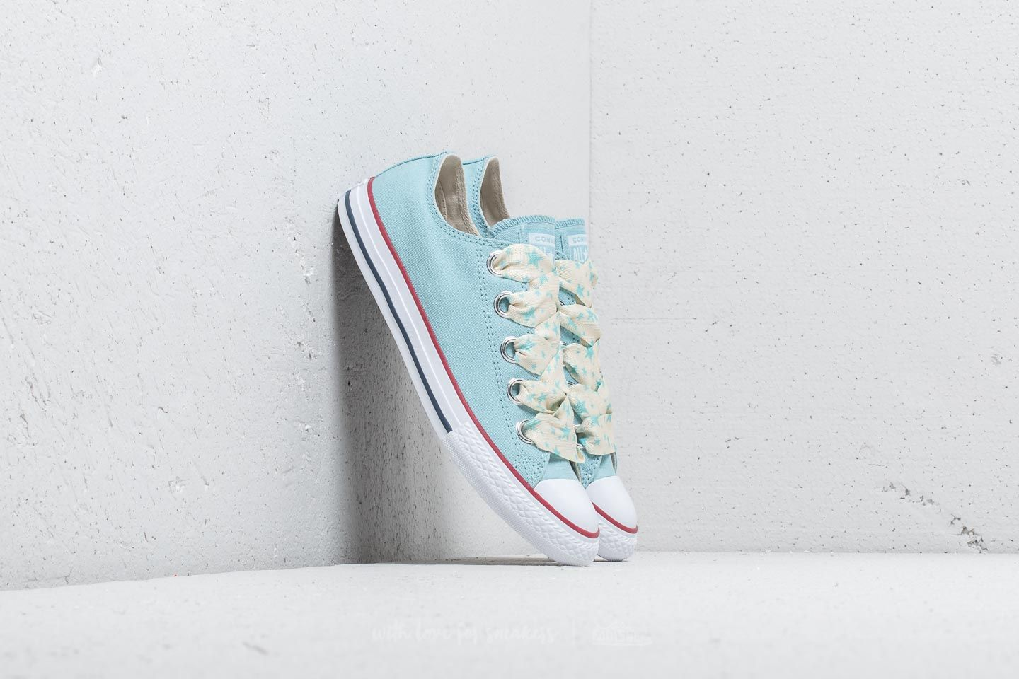 Converse Chuck Taylor All Star Big Eyelet Ox Ocean Bliss  Driftwood  White  at a b1e910da02