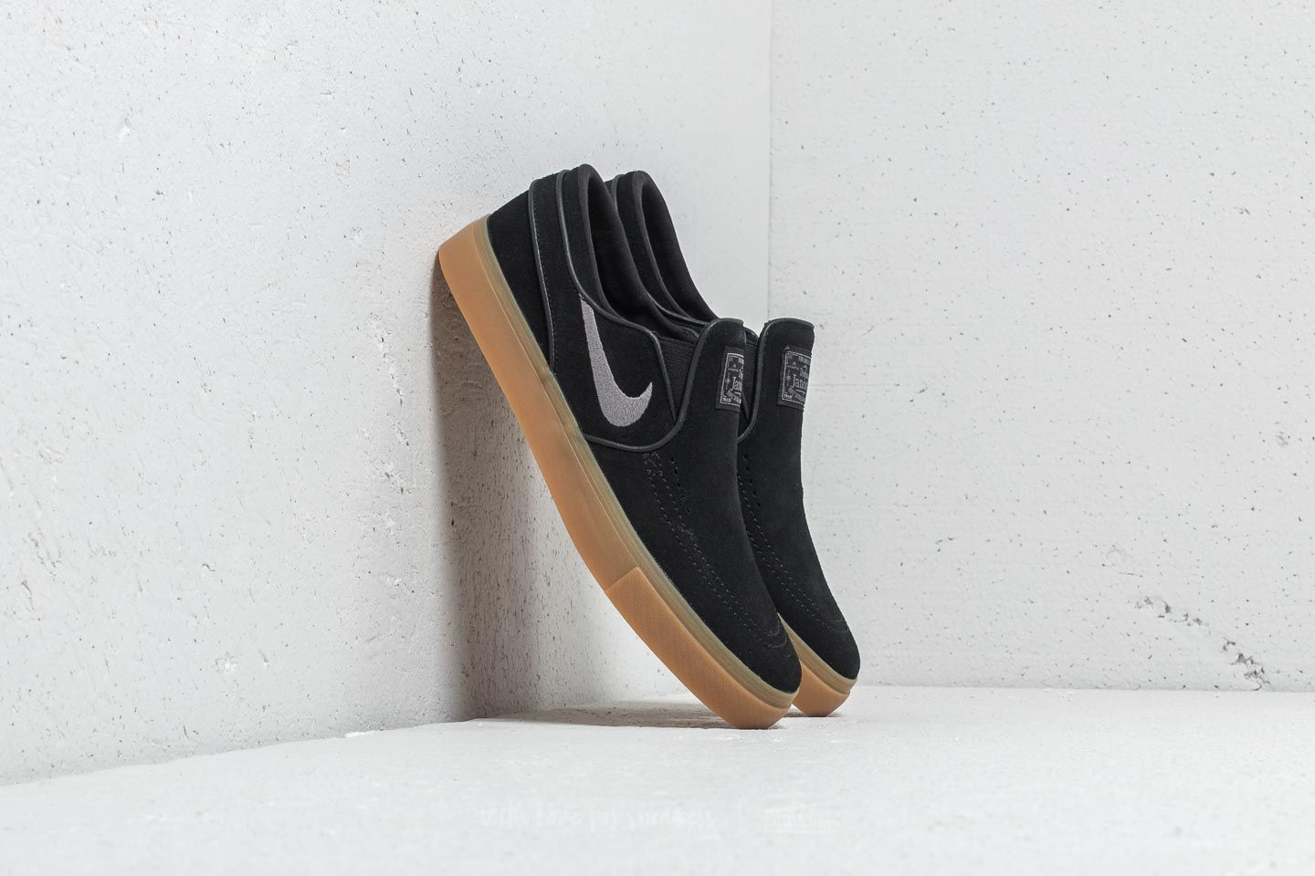 88de55833 Nike Zoom Stefan Janoski Slip Black  Gunsmoke-Gum Light Brown ...