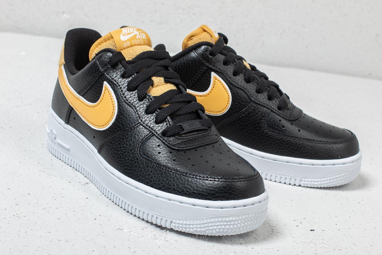 2019 Nike Air Force 1 '07 Se Sneaker Schwarz Wheat Gold Weiß