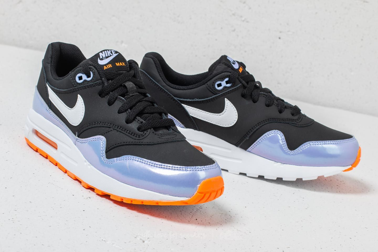 Nike Air Max 1 (GS) Black  White-Twilight Pulse at a great 5921a787c9e4