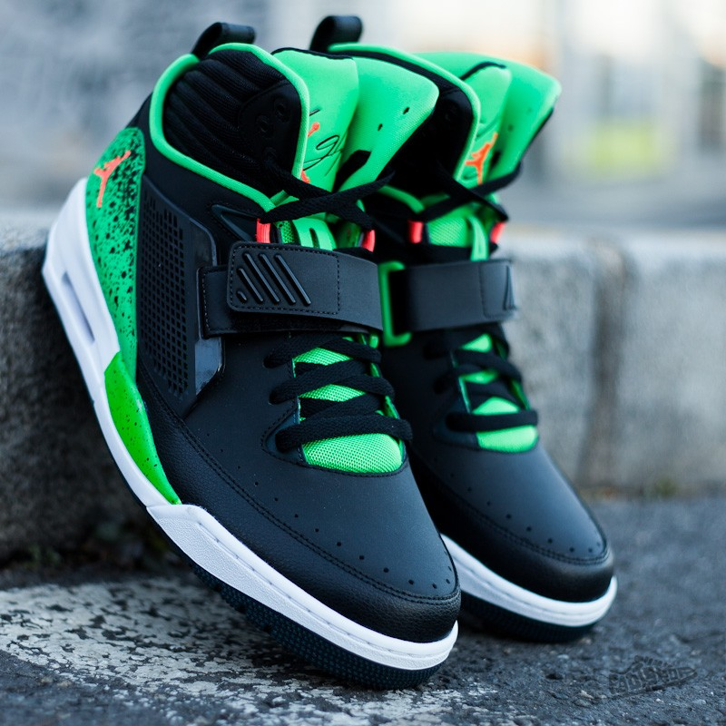 93e72482a427 Jordan Flight 97 Black Infrared Light Green Spark