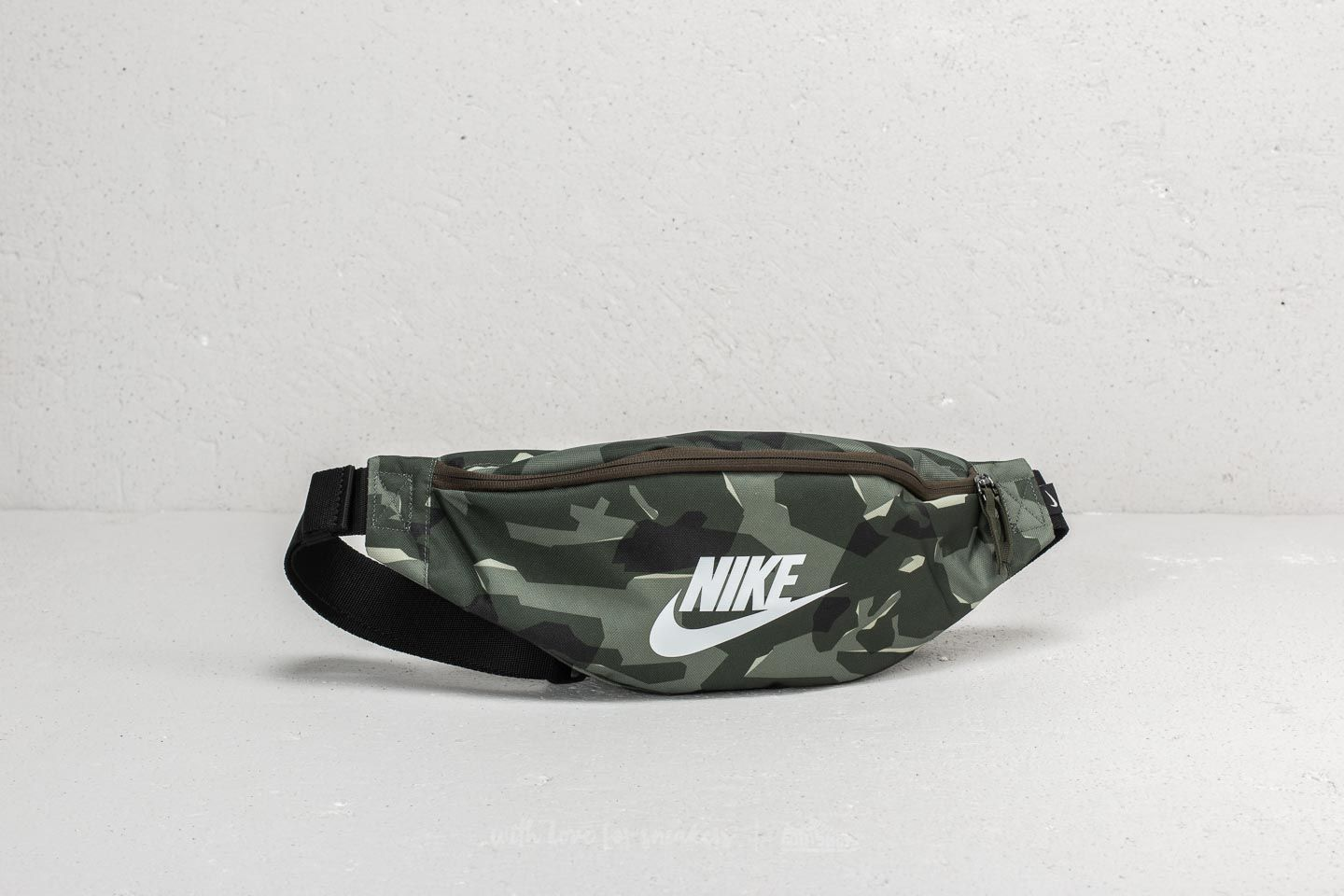 486d7557df Nike Heritage Hip Pack Cargo Khaki  Black  White