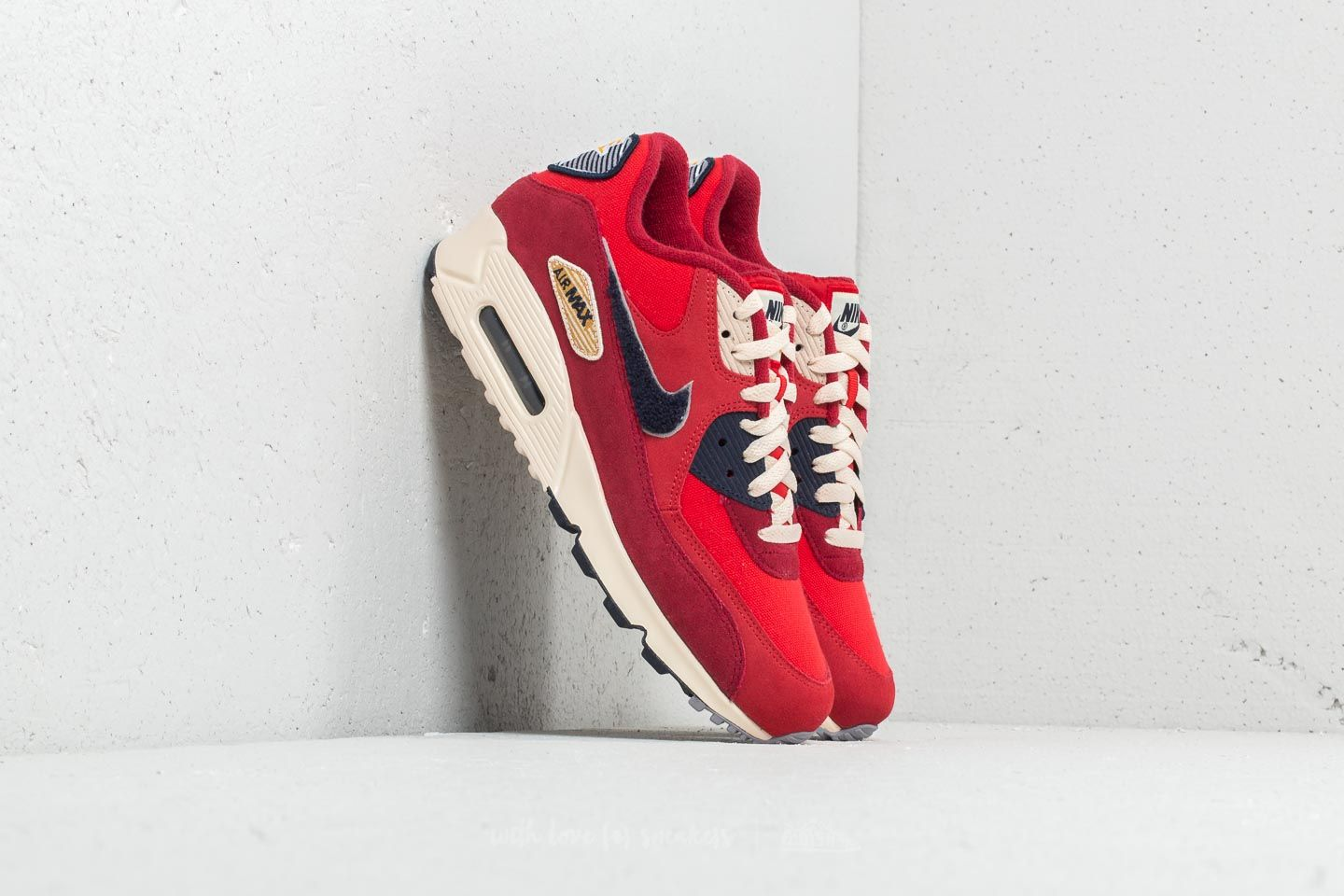 online retailer 45a98 911f0 Nike Air Max 90 Premium SE. University Red  Provence Purple