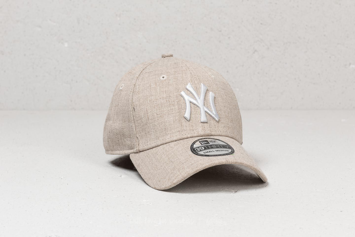 New Era 39Thirty MLB New York Yankees Cap Heather Oatmeal