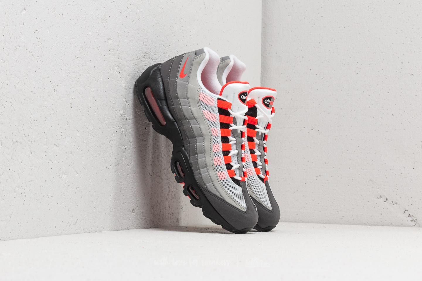 huge selection of 537c9 a6e9b Nike Air Max 95 OG White  Solar Red-Granite-Dust at a great