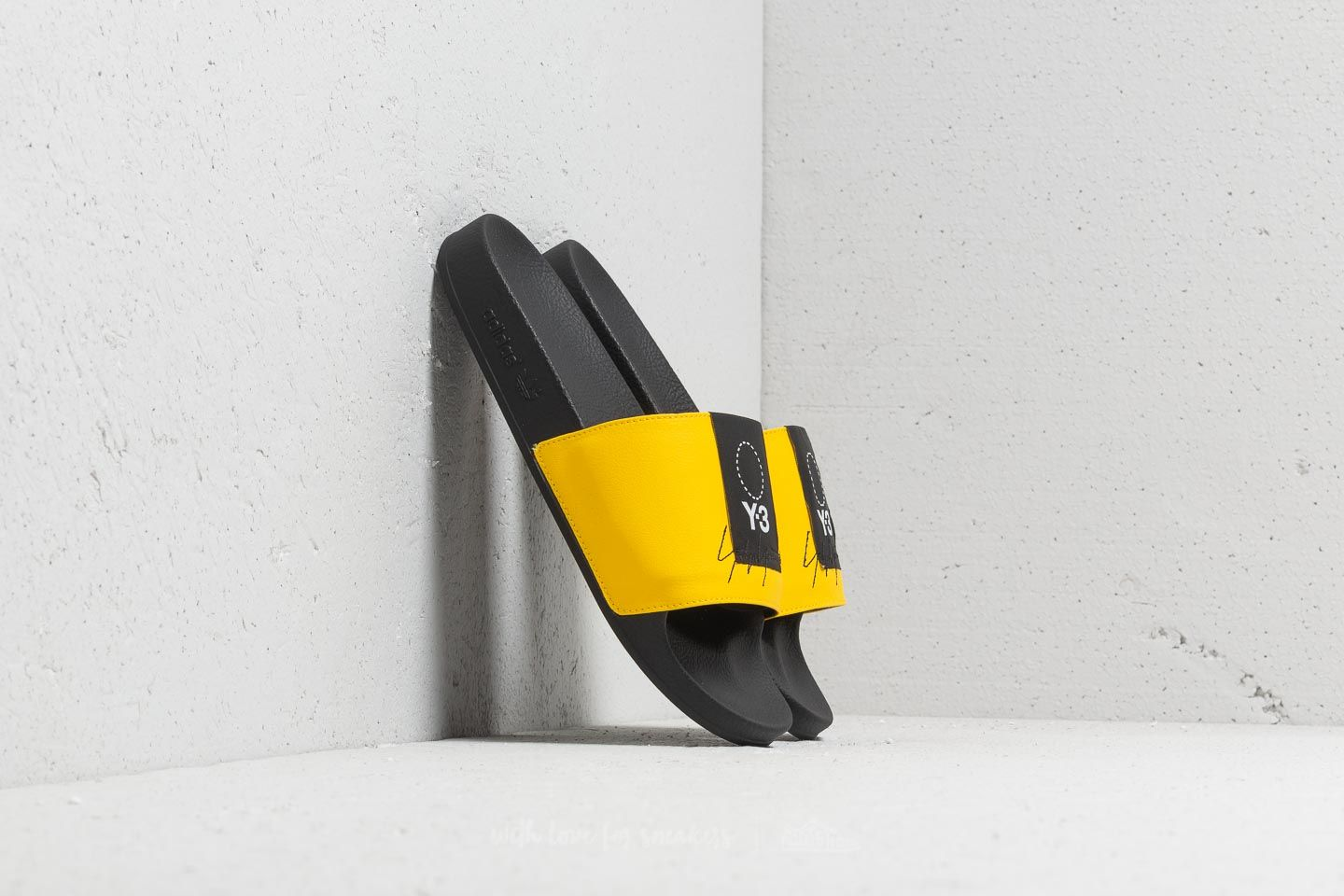 Y-3 Adilette Yellow/ Black/ Yellow at a great price $138 buy at Footshop