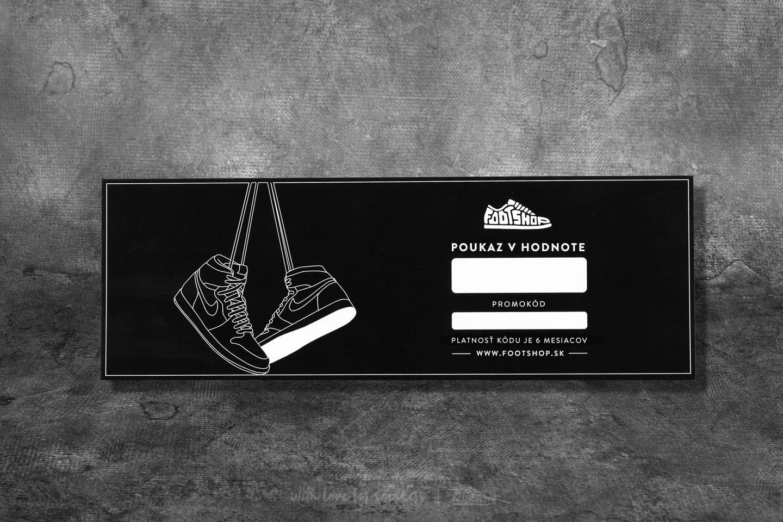 Darčekový poukaz 50 € za skvelú cenu 50 € kúpite na Footshop.sk