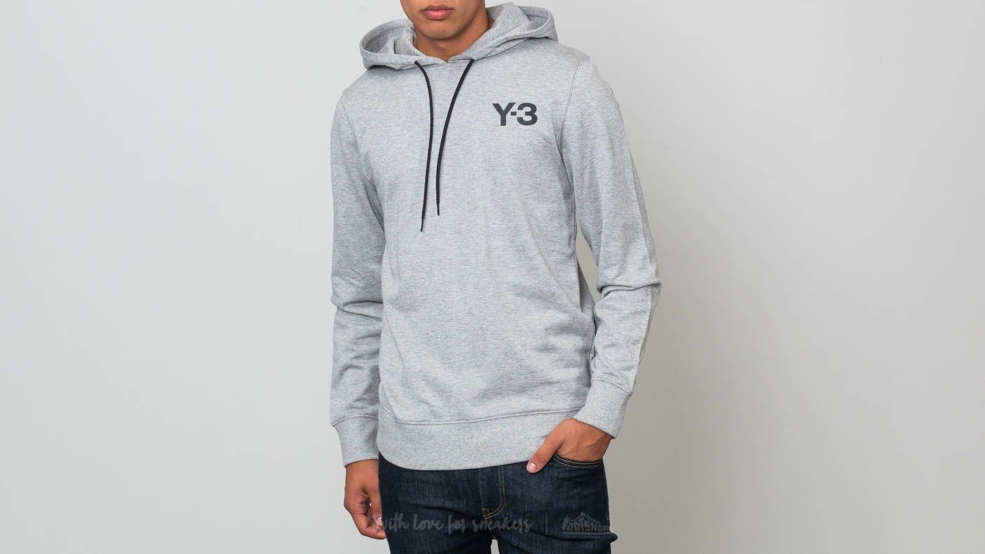Y-3 Classic Hoodie Medium Grey Heather za skvělou cenu 4 790 Kč koupíte na Footshop.cz
