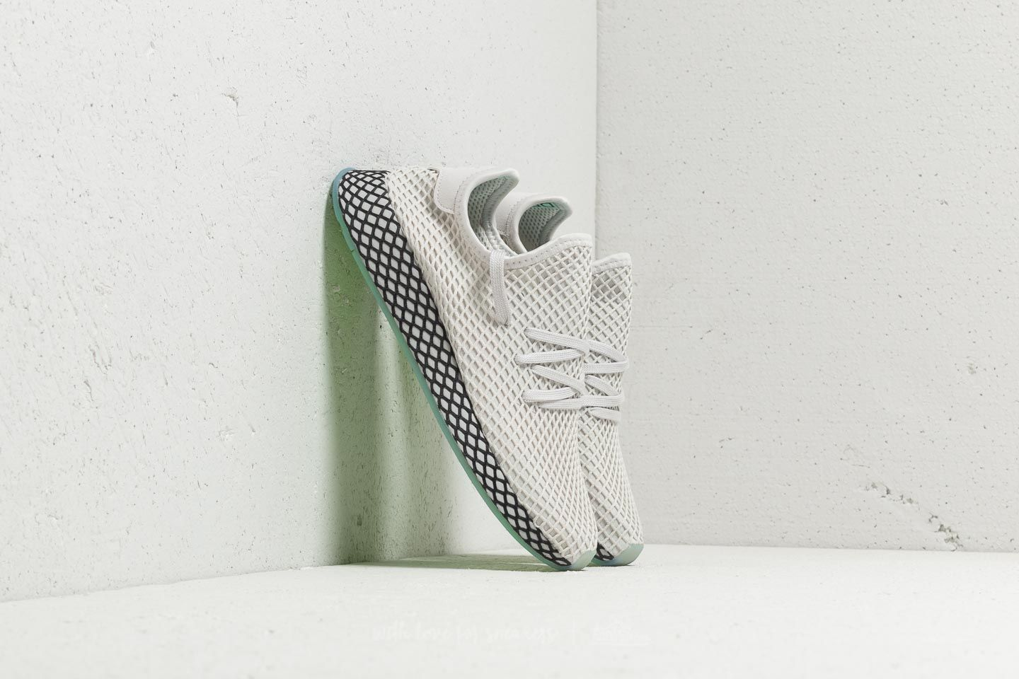 the latest ba8e0 c6d7b adidas Deerupt Runner Grey One Grey One Clear Mint at a great price 99