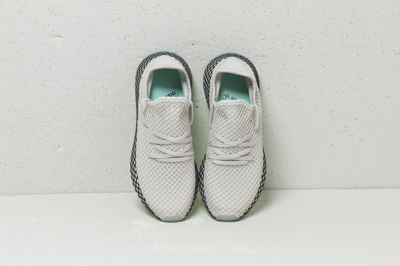 Adidas DEERUPT RUNNER GREY ONE GREY ONE CLEAR MINT Buty M?skie Sneakersy