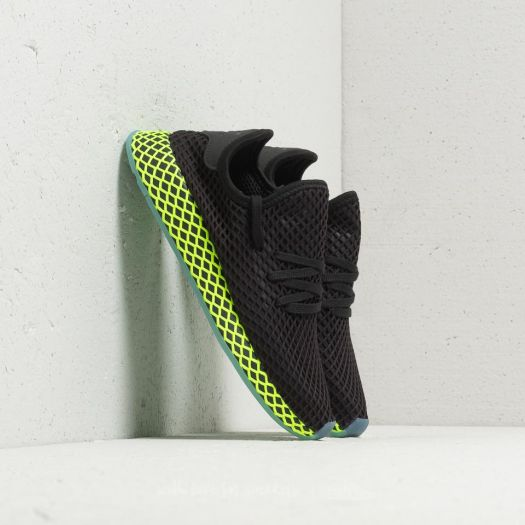 autentyczna jakość sprzedaż autentyczny adidas Deerupt Runner Core Black/ Core Black/ Ash Blue ...