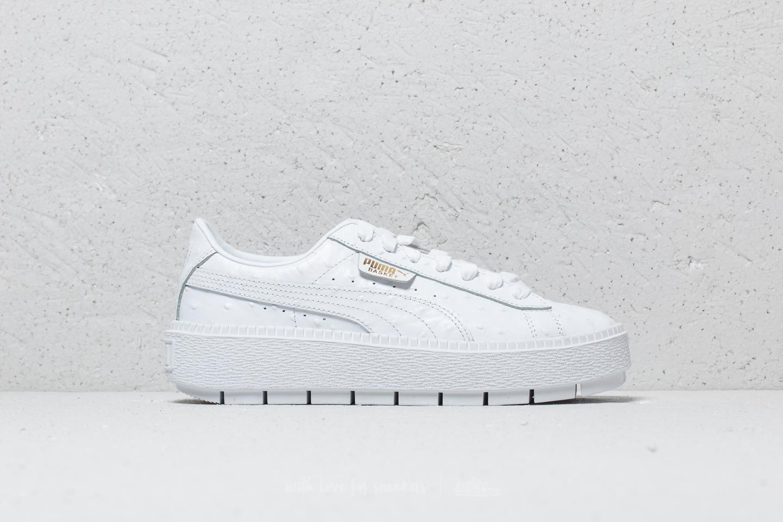 puma trace platform white