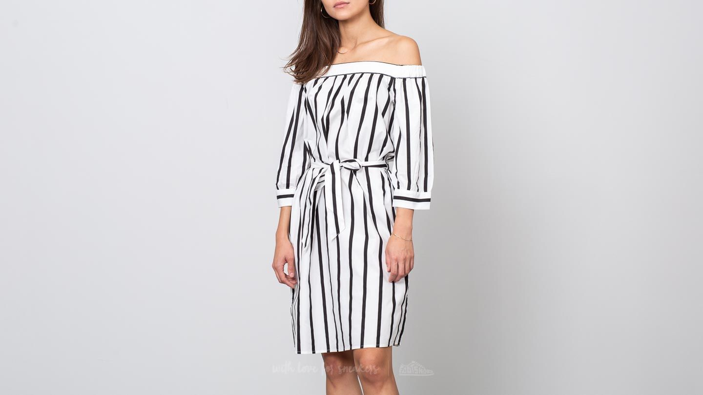 SELECTED Nadine 3/4 Off Shoulder Dress Camp Bright White/ Black za skvělou cenu 1 290 Kč koupíte na Footshop.cz