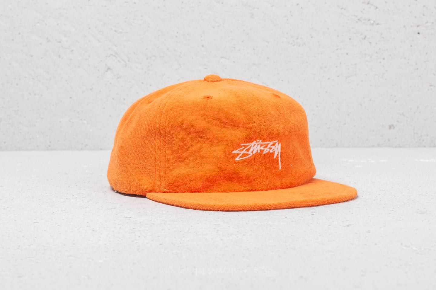 30e6becdc3d Stüssy Terry Cloth Cap Orange at a great price 29 € buy at Footshop