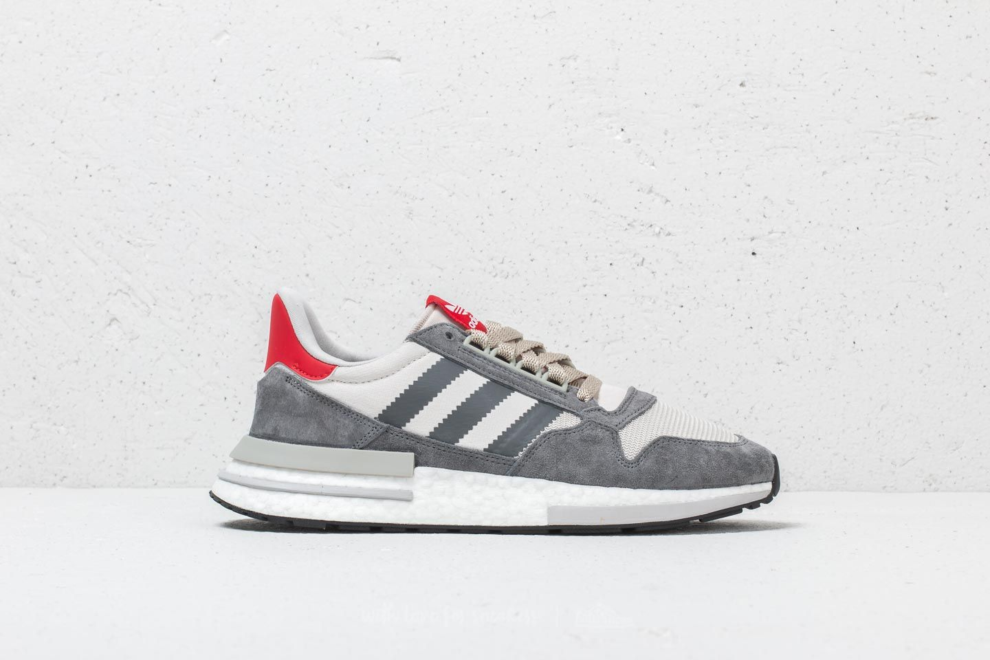 c11cb9c4416f adidas ZX 500 RM Grey Four  Ftw White  Scarlet at a great price 97
